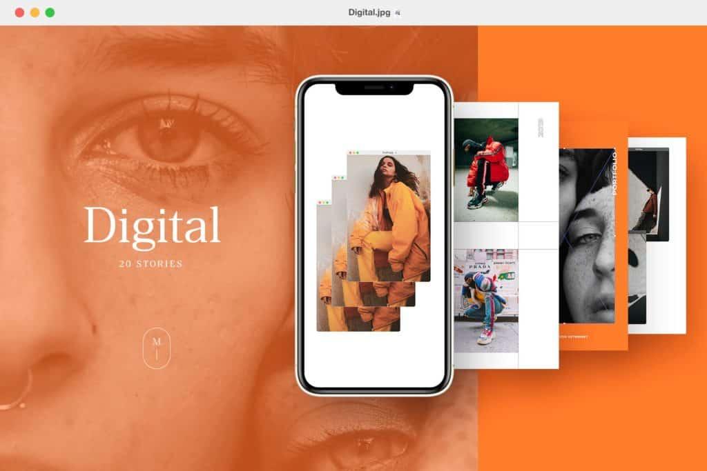 Digitalism – 20 Modern Instagram Stories Templates