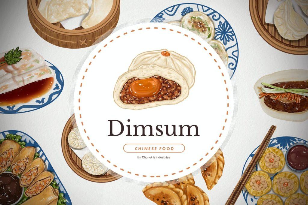 Dimsum Chinese food - Illustration elements