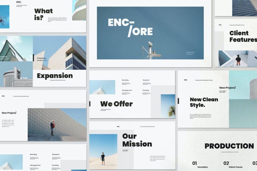 Encore - Minimal Business Keynote Corporate