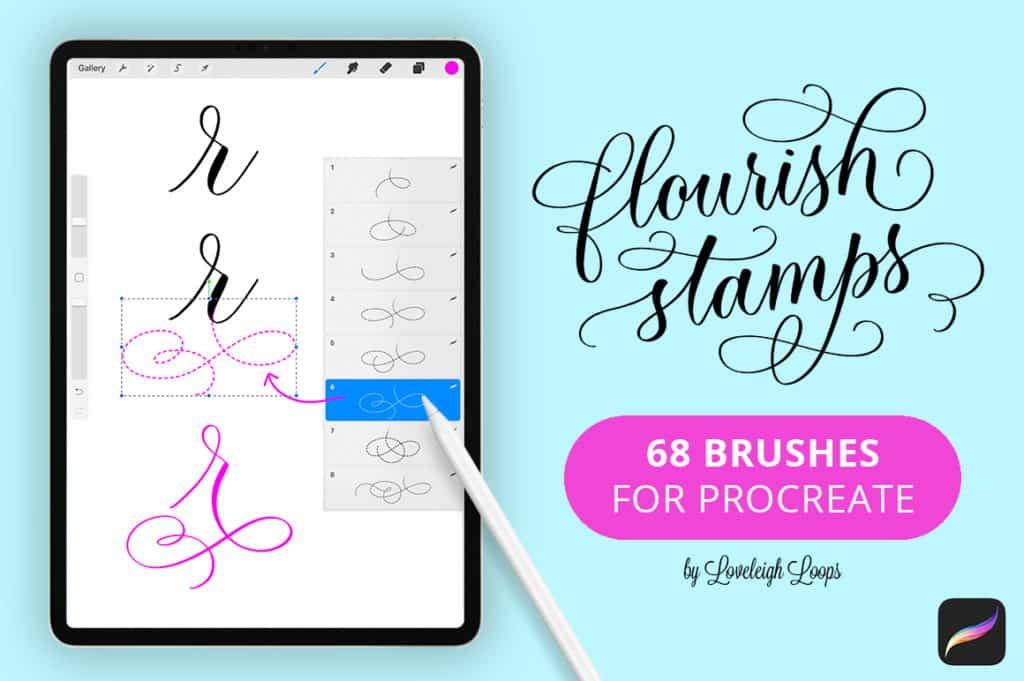 Flourish Stamps for Procreate