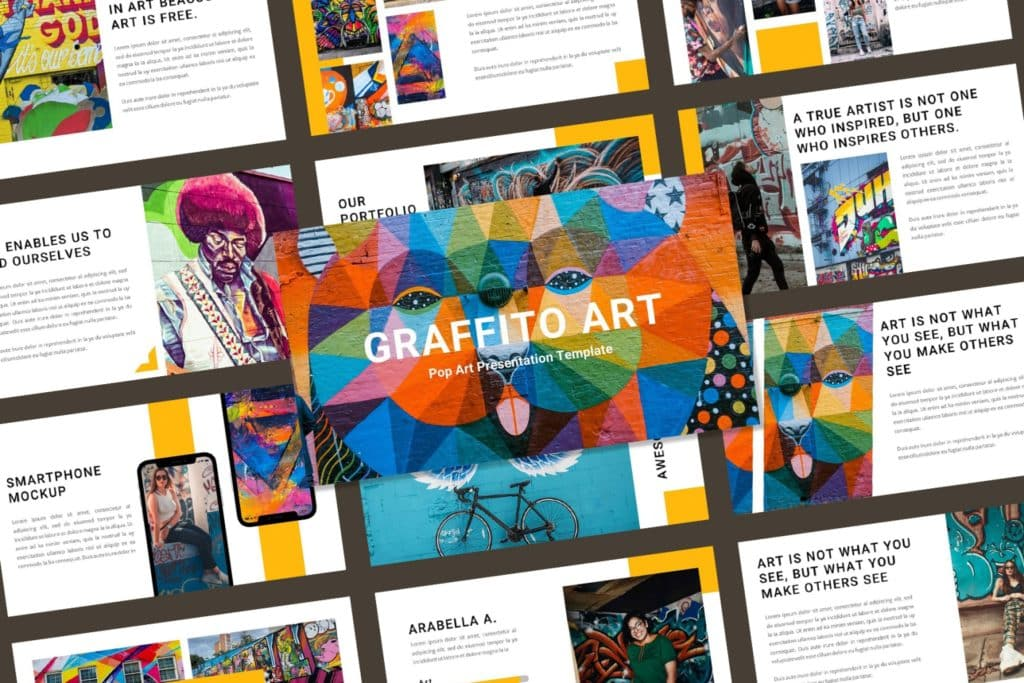 Graffito Art – Pop Art & Graffiti Keynote Template