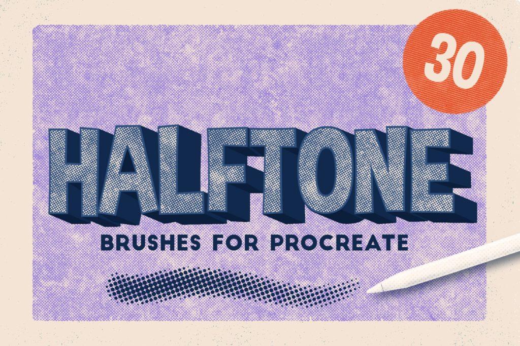 Halftone Brushes for Procreate