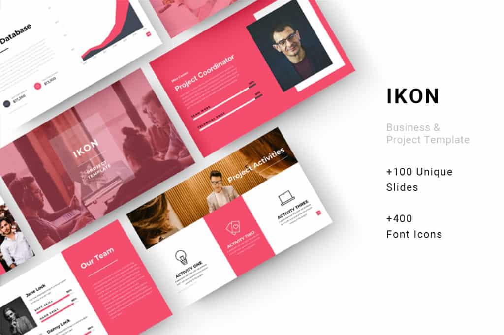Ikon Business & Project Keynote Template