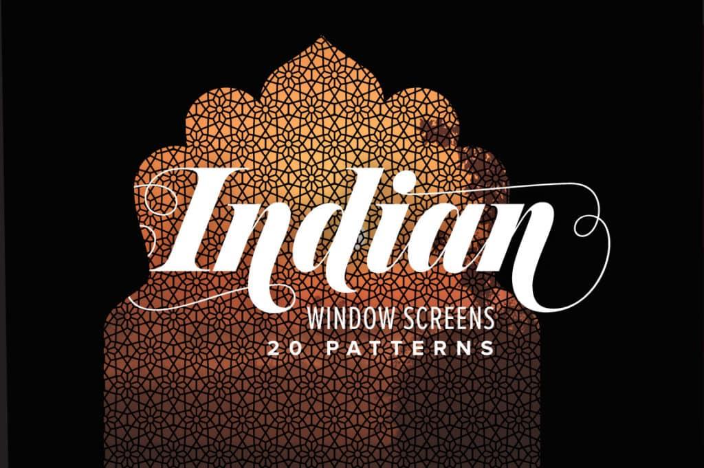Indian Window Screen Patterns