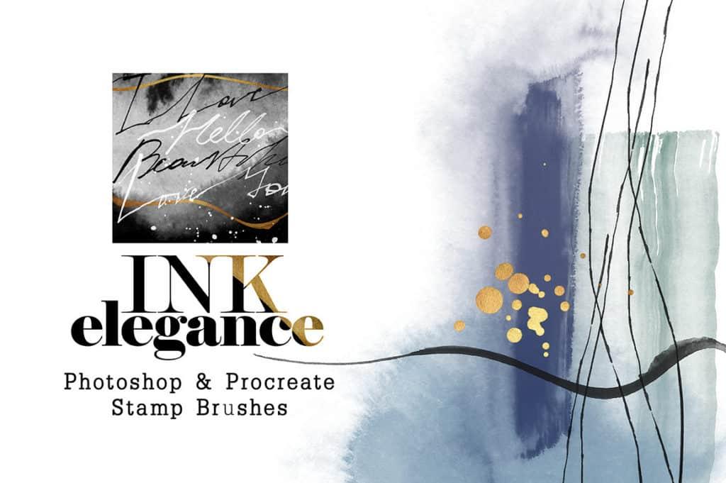 Ink Elegance – Photoshop & Procreate Stamp Brushes