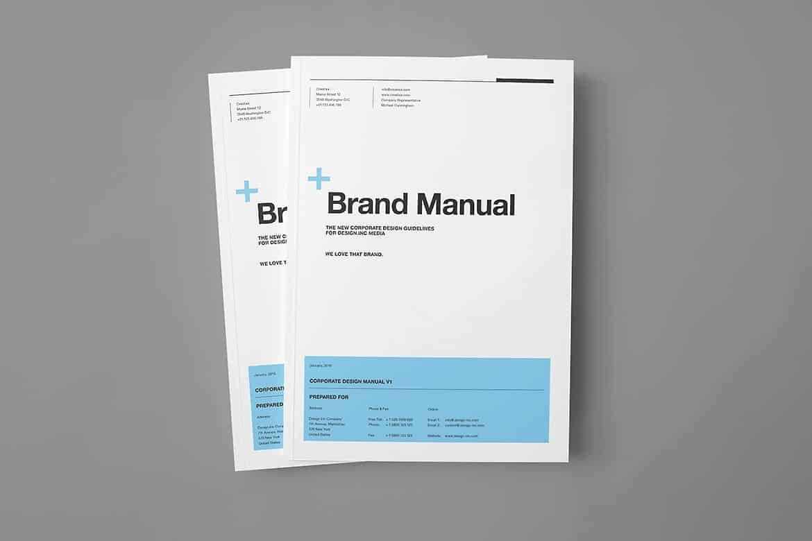 Brand Manual and Guidelines Template with real text
