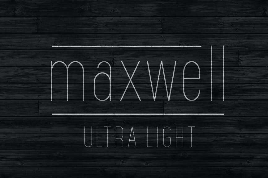 Maxwell Sans UltraLight