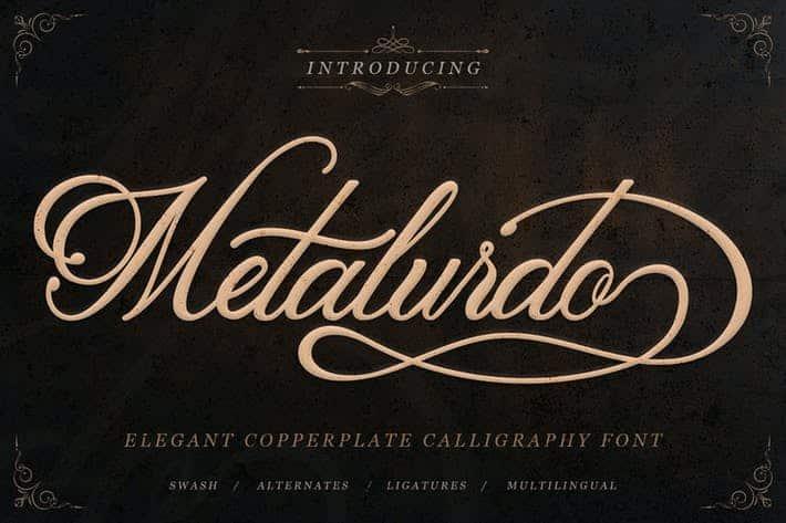 Metalurdo - Elegant Calligraphy Font