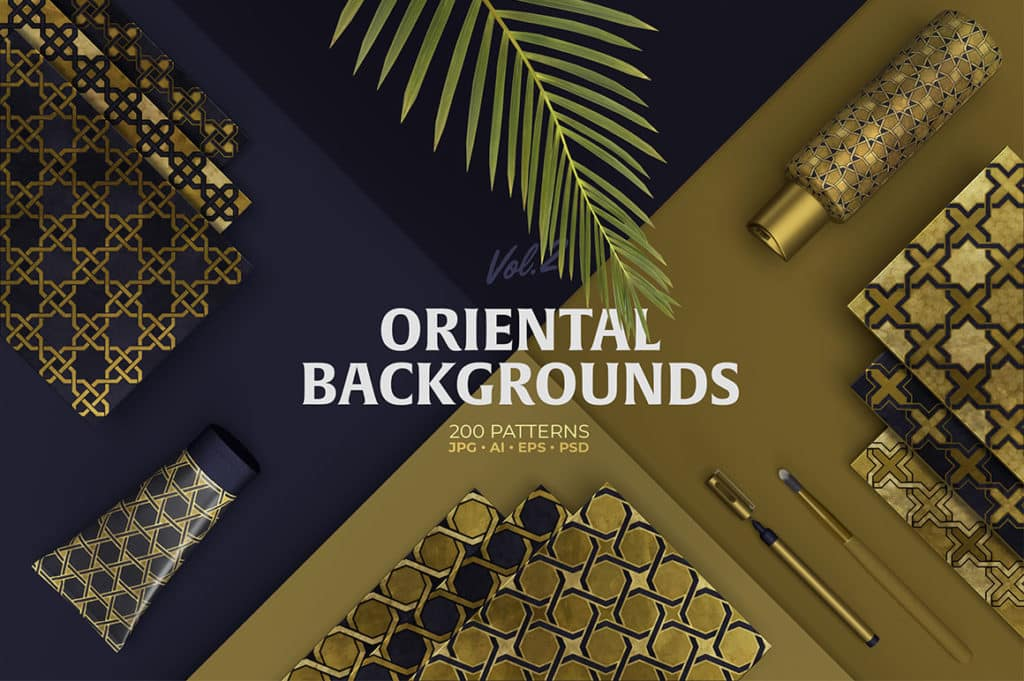 Oriental Backgrounds Collection