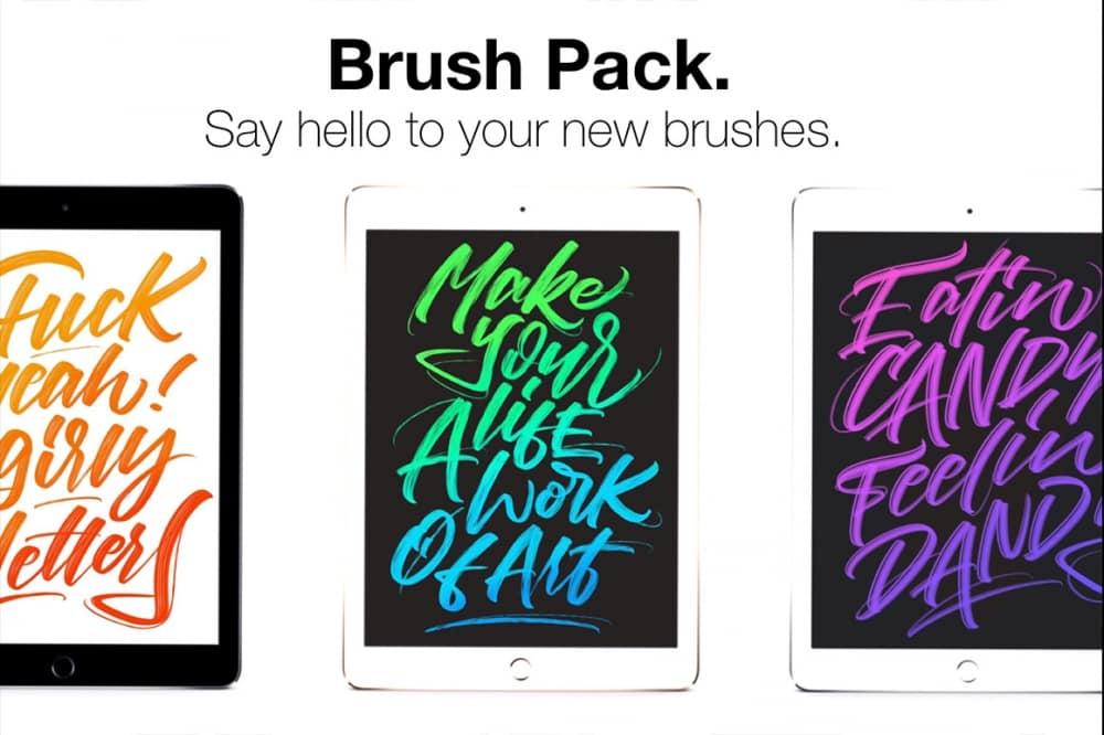 Procreate Lettering Brush Pack