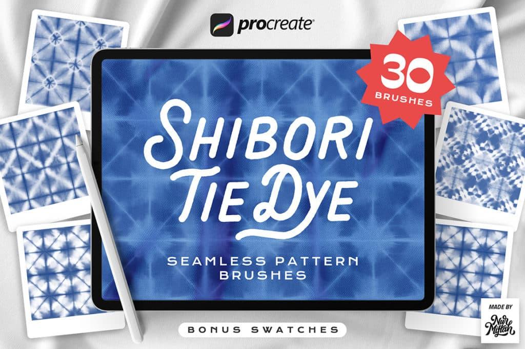 Procreate Shibori Tie Dye Seamless Pattern Brushes