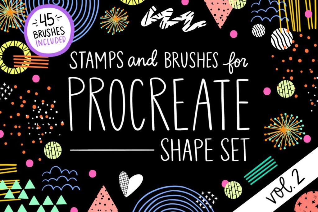 Procreate Stamp Shapes Set Vol.2
