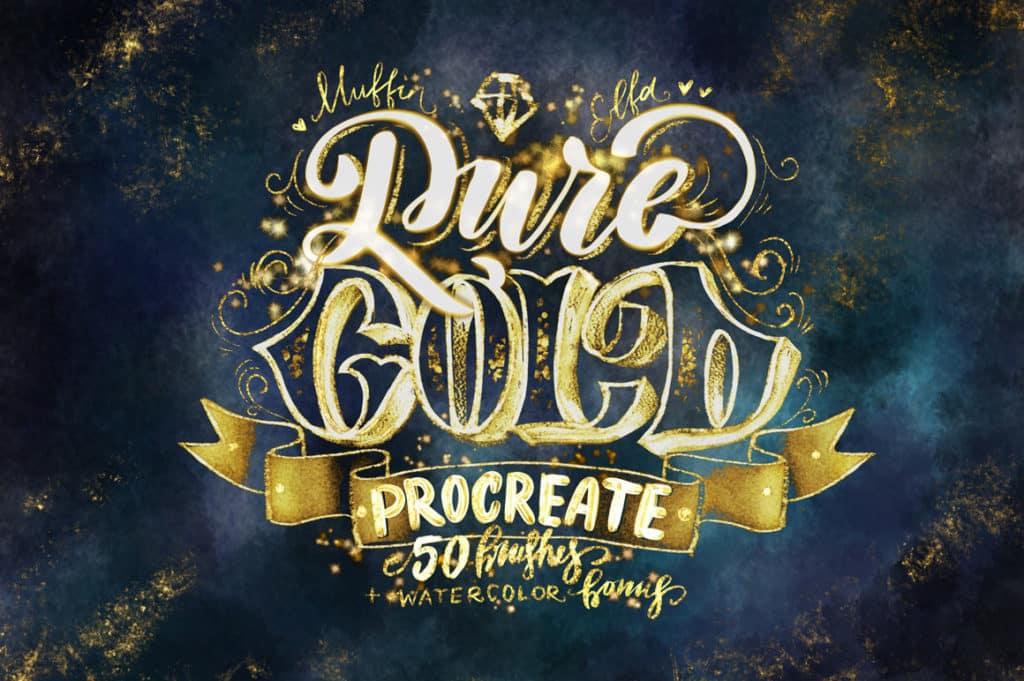 Pure Gold Procreate Brushset