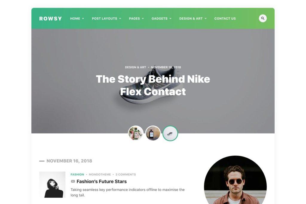 Rowsy - WordPress Blog Theme