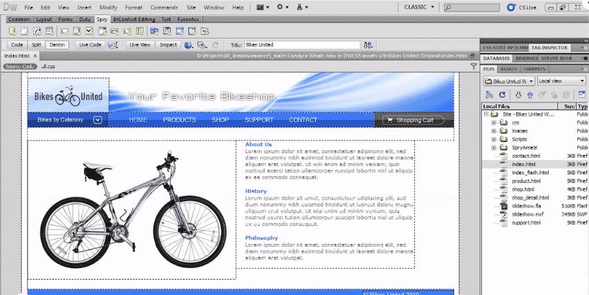 Adobe Dreamweaver CS5 New Features Workshop