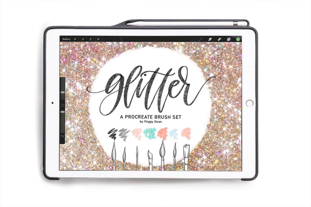 Sparkly Glitter Brush Pack for Procreate