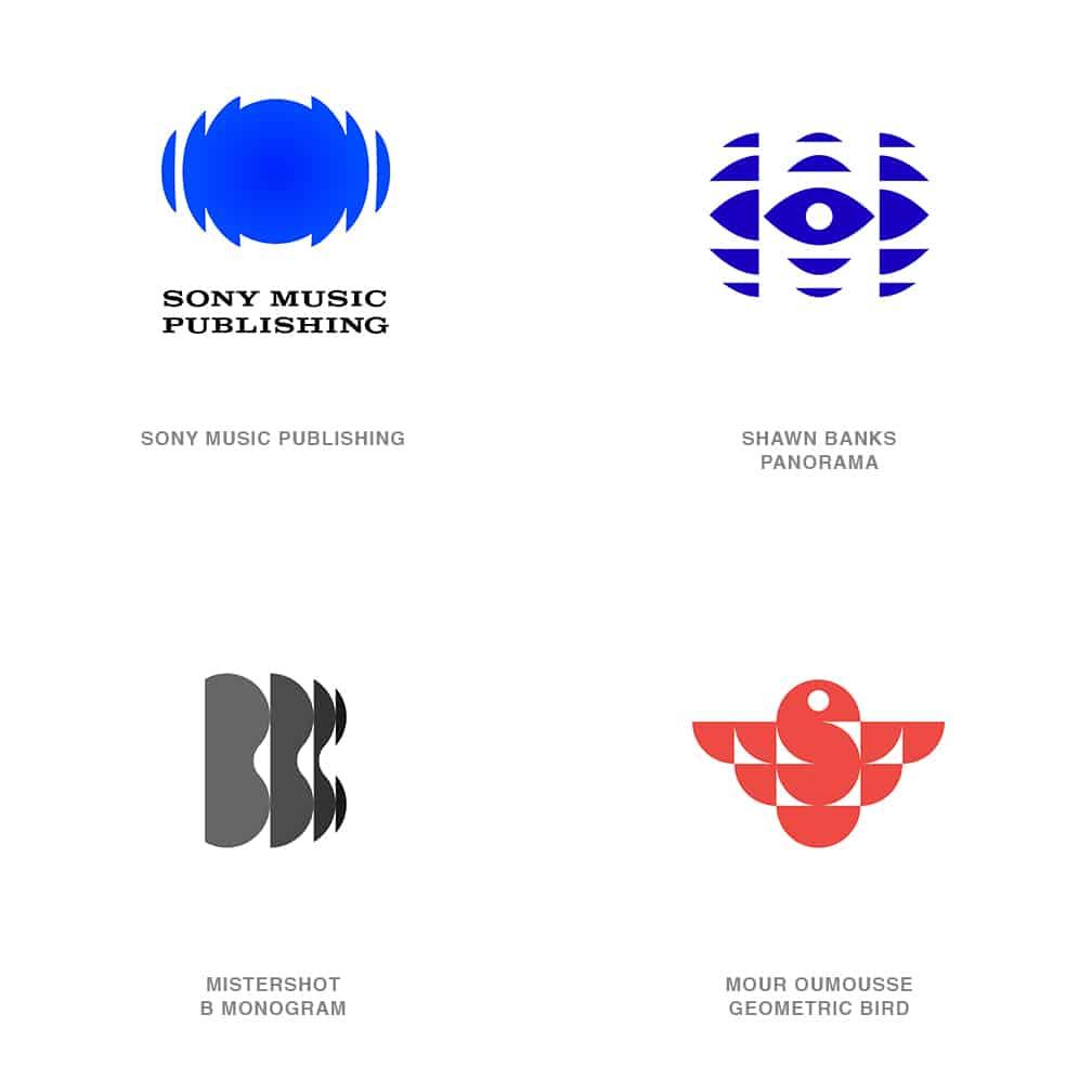 Spliced Logo Design Trend 2021