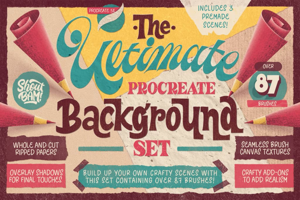 The Ultimate Procreate Background Set