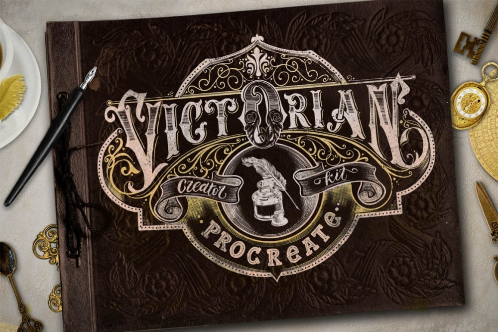 Victorian Lettering Creator Kit