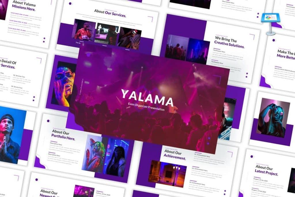 Yalama - Organizer Keynote Template