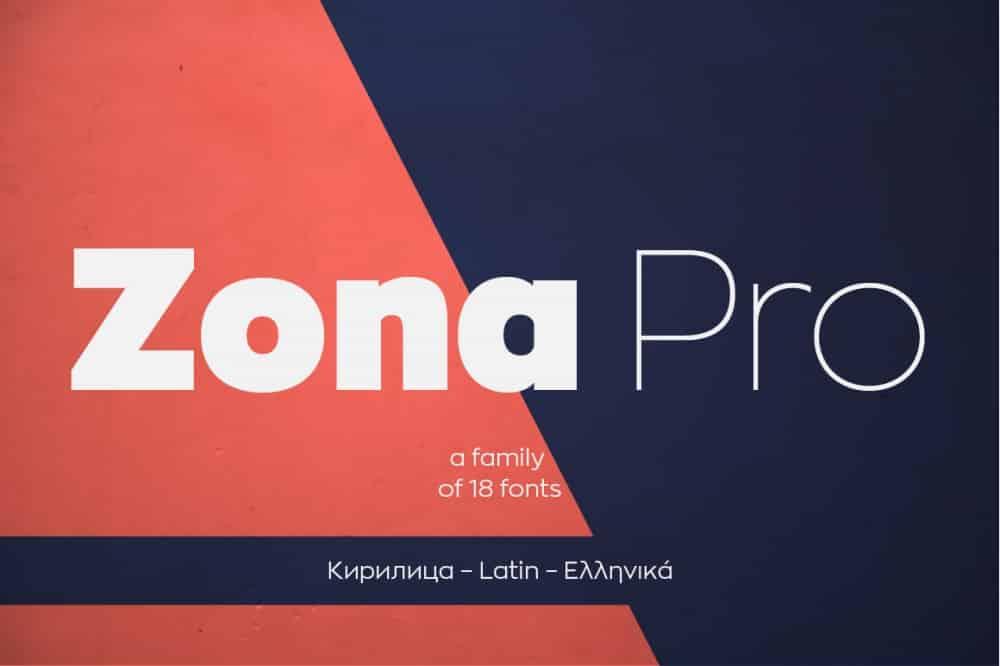 Zona Pro Typeface
