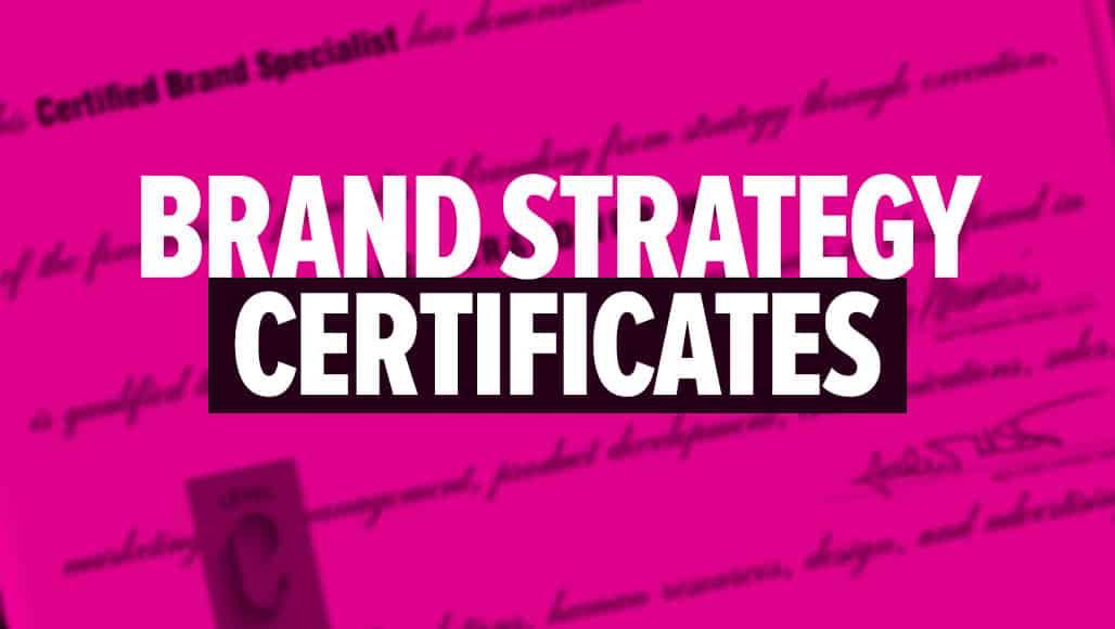 Best Brand Strategy Certificates