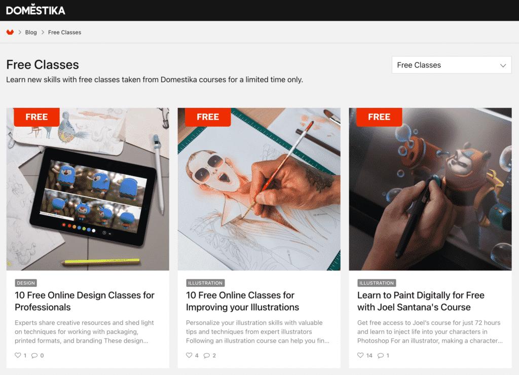 Free Domestika Design Courses