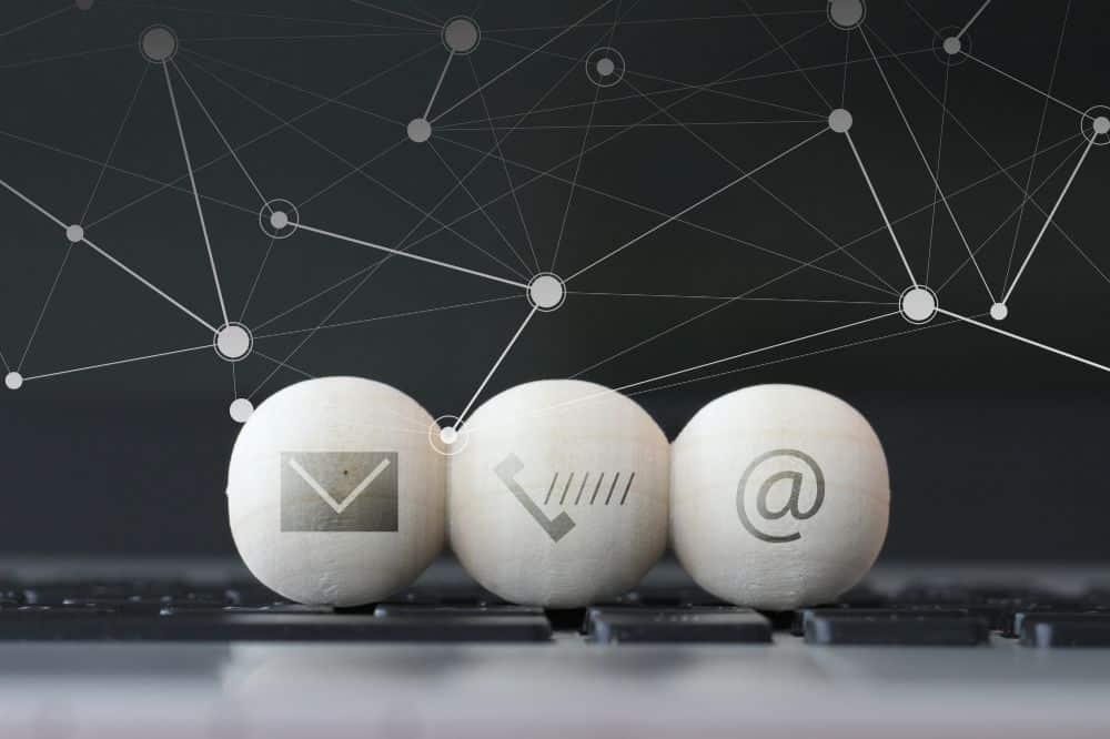 Website contact information