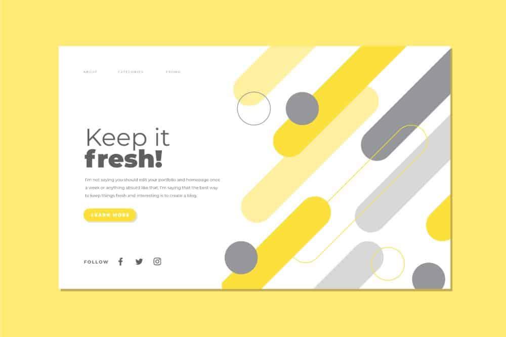 Keep Content Fresh on Your Online Portfolio