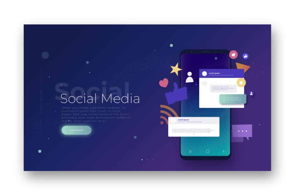 Use social media to promote your online portfolio