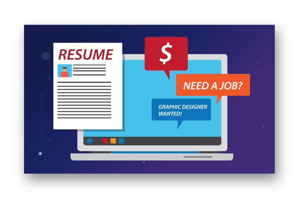 Resume in online portfolio