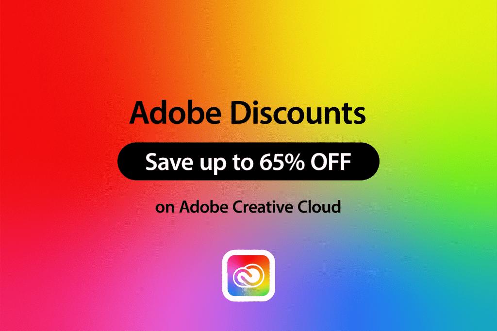 Adobe Creative Cloud Discount - Save 65%