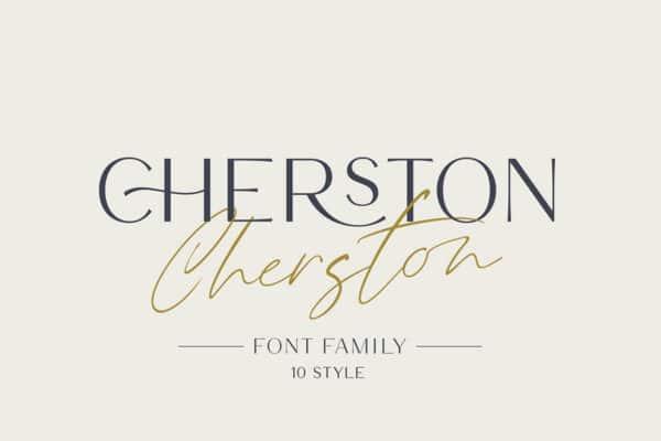 Cherston Wedding Invitation Font