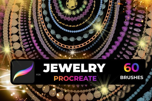 Jewelry, Beads, Chains, and Crystal Brushes