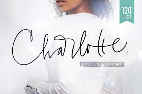 Charlotte Script Wedding invitation Font