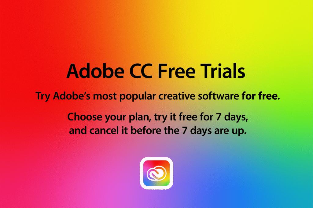 Adobe CC Free Trials