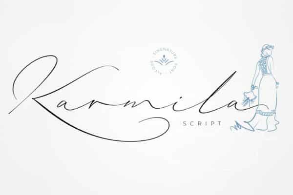 Karmila Script Wedding Invitation Font