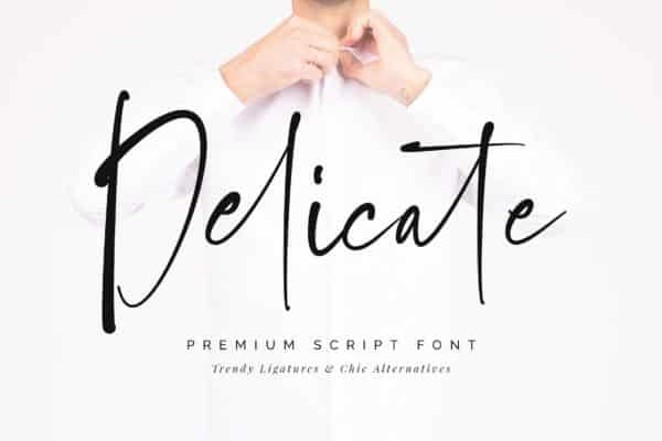 Delicate Script Font Wedding invitation Fonts