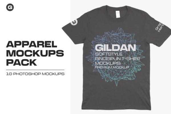 Gildan 64000 T-Shirts Mockups