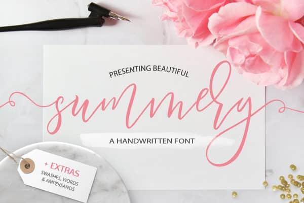 Summery Script Font Wedding Invitation Fonts