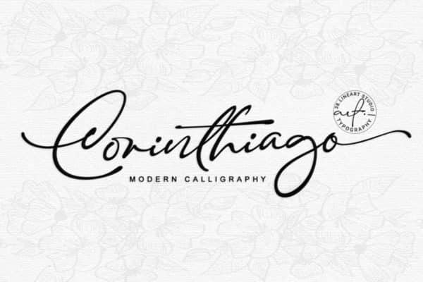 Corinthiago – A Modern Calligraphy Script Font Wedding Invitation Font