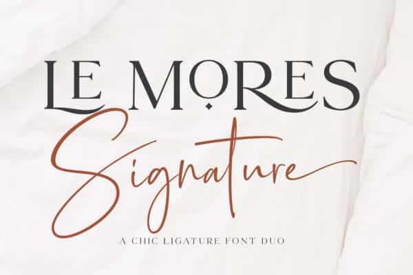 Le More Collection Font Duo Wedding Invitation Fonts