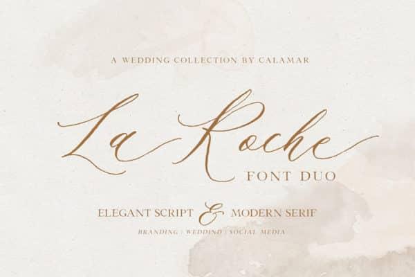 La Roche Font Duo Wedding Invitation Fonts