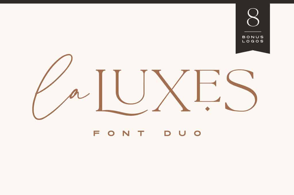 La Luxes Font Duo + Logos Wedding Invitation Fonts