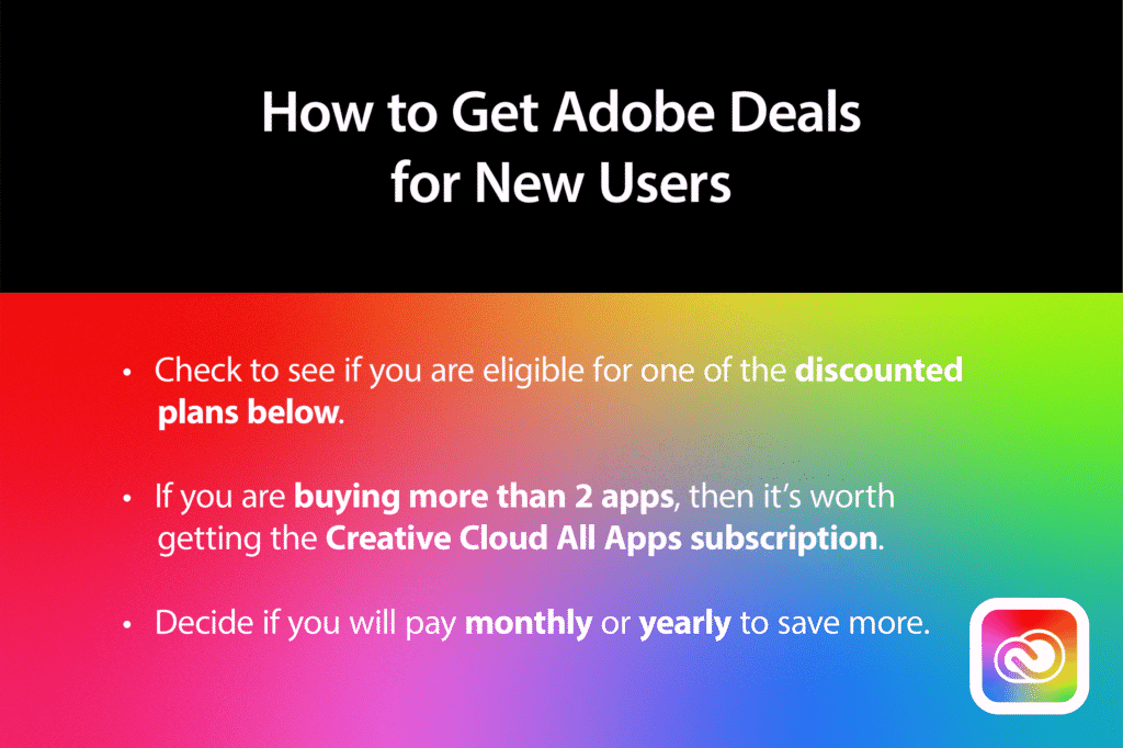 How to get Adobe Discount for New Users