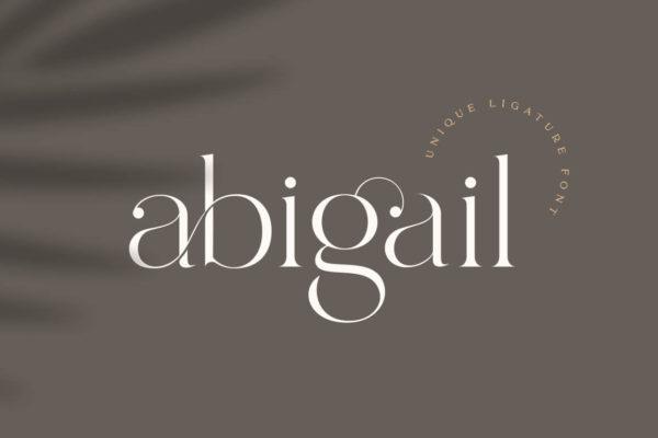 Abigail – Unique Ligature Font Wedding Invitation Fonts