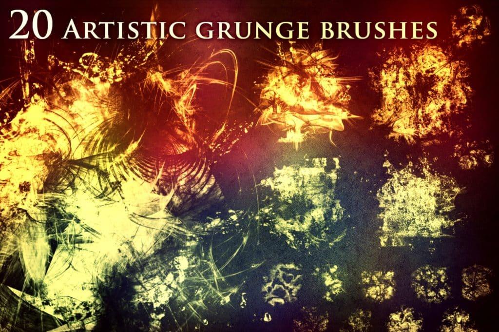 20 Artistic Grunge Brushes