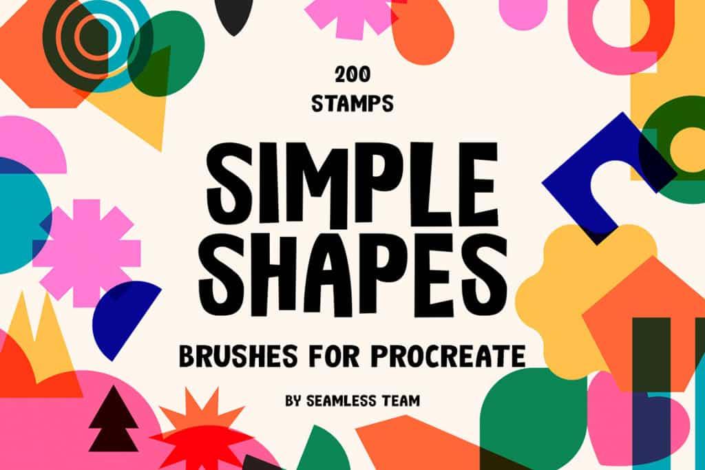 200 Simple Shapes Brush Set for Procreate