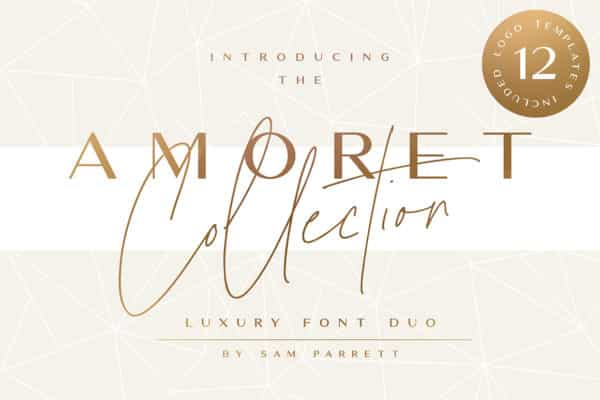 The Amoret Collection Wedding Invitation Fonts