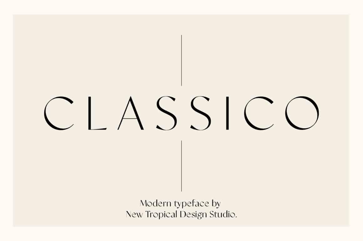 Classico – Modern Serif Font Wedding Invitation Font